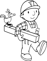 bob the builder and bird coloring page wecoloringpage