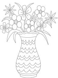 Vase Drawing Free Coloring Pages Flower Vase Flower Coloring Pages Girls