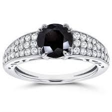 white and black diamond engagement rings unique black diamond engagement rings for your big day