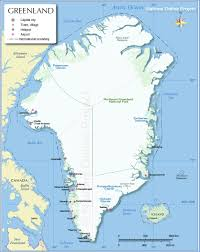 Baffin Bay On World Map by Map Of Greenland Nations Online Project