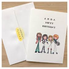 abba card birthday card greeting card card 50th