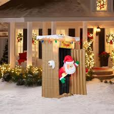 Gemmy Inflatable Christmas Decorations Outdoor by Animated Santa Inflatable Christmas Airblown Yard Decor 6 Ft