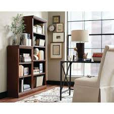 Tall Dark Wood Bookcase Bookcases Home Office Furniture The Home Depot