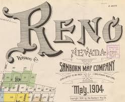 Reno Map Collection Of Vintage Reno Map Titles Sanborn Map Co Album On