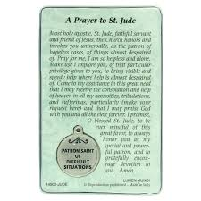 st jude gifts jude prayer card with medal and prayer difficult situations