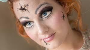 puppe mit rissen broken doll easy halloween makeup youtube