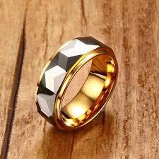 cincin tungsten carbide mprainbow mens cincin tungsten carbide multi faceted dipoles