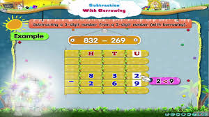learn grade 3 maths subtraction with borrowing youtube