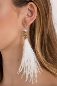feather earrings s spread your wings white feather earrings s 19 tobi sg