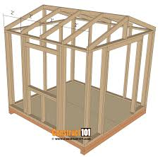 garden shed plan garden shed plans 8x8 step by step construct101