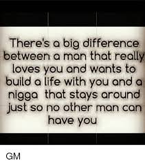 Build Your Meme - there s a big difference between a man that really loves you and
