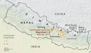 us geological earthquake map nepal earthquake strikes one of earth s most quake prone areas