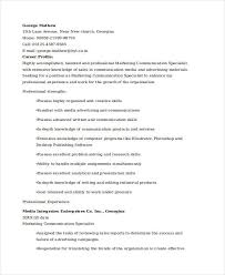 publishing resume marketing resume examples 47 free word pdf documents download