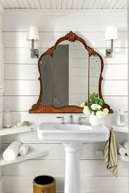 Vintage Bathroom Mirror Antique Bathroom Mirrors Stylish Shiplap Bathroom Wood Ceiling