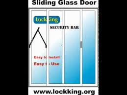 Security Bars For Patio Doors Sliding Glass Door Patio Door Security Bar Lock Youtube