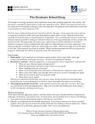 Admissions Essay Examples Essay For Graduate Admission Sample