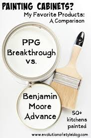 painting cabinets benjamin moore advance vs ppg breakthrough