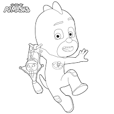 evil young mad scientist from pj masks coloring page get