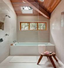Bathroom Natural 30 Awesomely Airy Bathroom Designs With Skylight Rilane