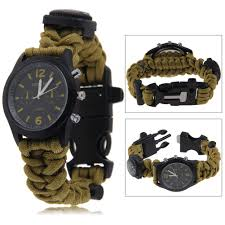survival bracelet watches images Camo 550 paracord survival watch bracelet with compass flint fire jpg
