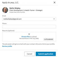 Can You Upload Your Resume To Linkedin How To Attach A Resume To A Linkedin Job Application Intero Advisory