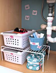Bathroom Sink Organizer by Organize It The Kids Bathroom Our Fifth House