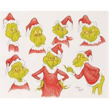how the grinch stole christmas original model sheet style drawing