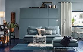 canapé turquoise ikea séjour aux nuances de bleu rangement bestå gris turquoise canapé