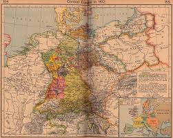 Map Central Europe by Central Europe In 1812 Full Size