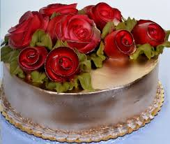 Awesome Birthday Cake With Rose Decorating Of Party