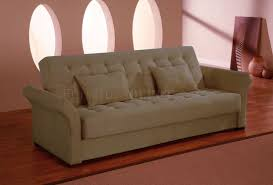 Click Clack Bed Settee Click Clack Sofa Bed Convertible In Delux Khaki Microfiber