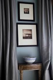 Blue Grey Curtains Ok Ros You Are A Genius Blue Walls Black Frames Blue And White