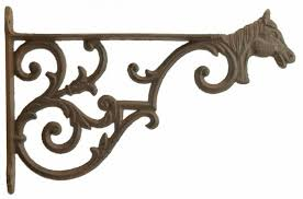plant hanger large cast iron flower basket hook