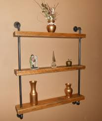 Reclaimed Wood Floating Shelves by Natural Wood Floating Wall Shelf
