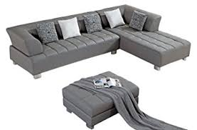 Leather Tufted Sectional Sofa Amazon Com American Eagle Furniture Aventura Collection Modern