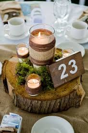 Burlap Wedding Centerpieces by Best 20 Flowerless Centerpieces Ideas On Pinterest Country