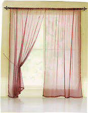 Curtains 240cm Drop Ready Made Organza Curtains Ebay