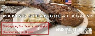 marshall steakhouse home springs mississippi menu