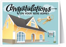 congratulations on new card congratulations on your new home home purchase card inside