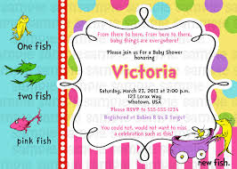 dr suess one fish two fish pink baby shower invitation baby