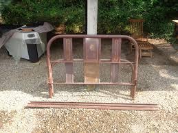 bedroom fascinating antique metal iron bed frame footboard