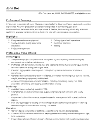 Quality Assurance Manager Resume Sample Oil And Gas Project Manager Resume Sample