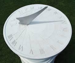 memorial classical sundial pedestal cast garden