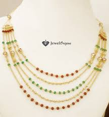 gold beaded necklace india images Layered beads necklace designer gold and jpg