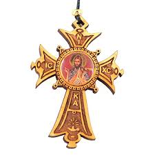 wooden cross car decorations orthodox ornaments items