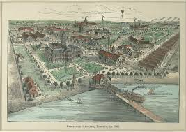Birds Eye View Maps Fort York And Garrison Common Maps 1889 Exhibition Grounds