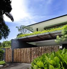 Modern Green Home Design With Open Room And Garden The Sun House - Modern green home design