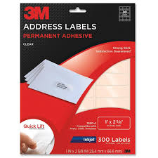 amazon com 3m permanent adhesive address labels 1 x 2 62 inches