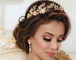 bridal tiaras bridal headpiece jewelry gift tiara crown hair comb by topgracia