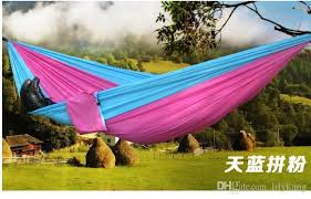 2016 top selling outdoor portable camping double hammock outdoor
